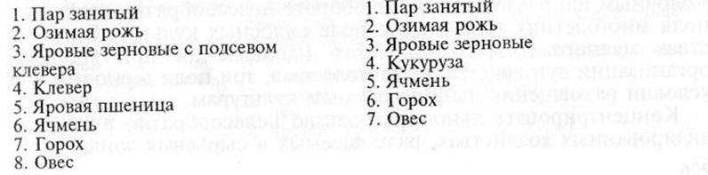 схемы севооборотов: