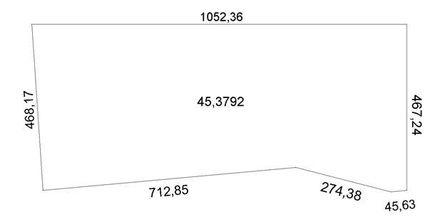 Схема границ участка №3.
