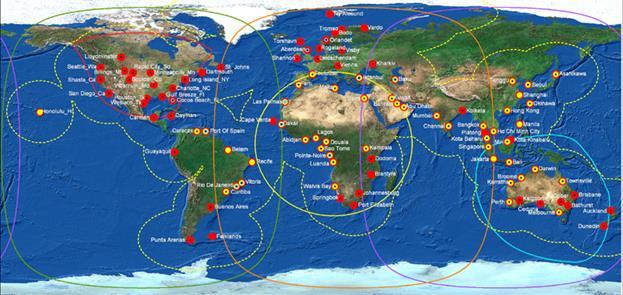 Схема сети базовых станций и