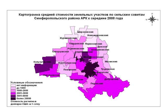 Дипломная работа Районирование территории АРК по стоимости земель